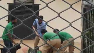 Tiger attacks a man in bahria danzoo