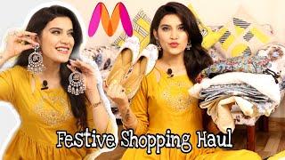 Huge Amazon / Myntra FESTIVE Haul | Kurtas, Jewelry, Makeup | Best Deals | Super Style Tips