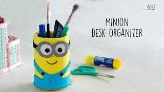 DIY Minion desk Organizer | Diy Desk Organizer