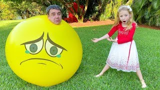 Nastya and Hot vs Cold Challenge with Dad