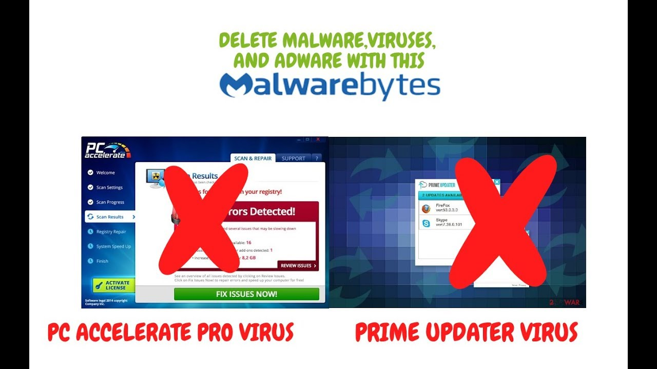 How to Use Malwarebytes | Remove Prime Updater, PC Accelerate Pro and  ADWARE/RANSOMWARE/VIRUSES