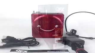 QFX CS-80 RED Portable Rechargeable Power Amplified Mini PA Speaker System