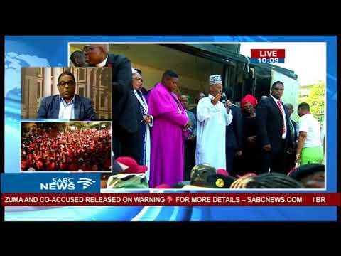 Zuma, Malema address crowds after court appearances