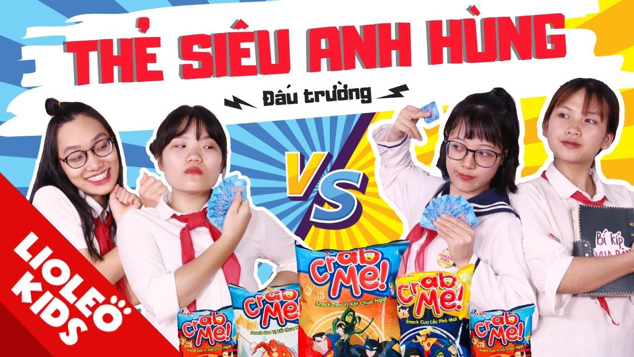 """Lớp học siêu quậy: ĐẤU TRƯỜNG THẺ SIÊU ANH HÙNG OISHI CRAB ME!! Ai mới là """"vua thẻ"""" bất bại??"""