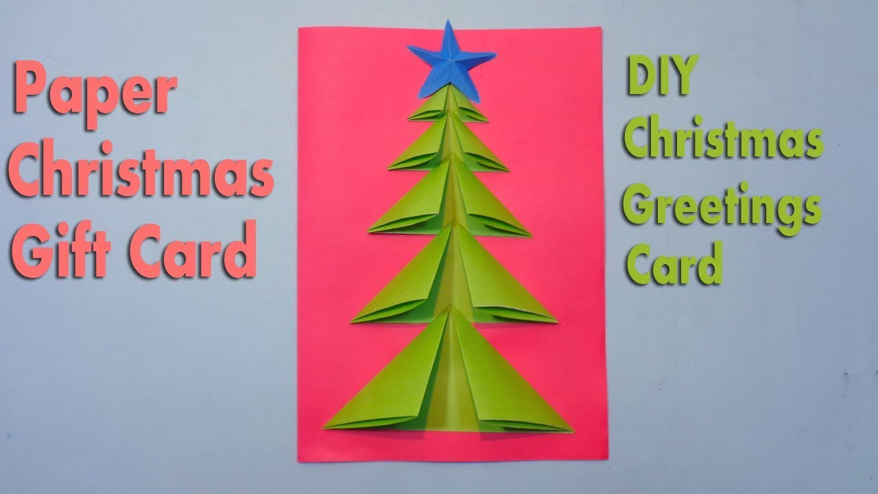 How to Make Paper Christmas Tree Greetings Card (Christmas Crafts ...