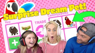 I Surprise My Mom With Her DREAM PET!! A Neon Legendary Parrot!! Roblox Adopt Me!