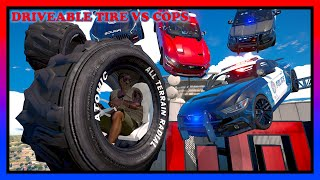 WE BUILT DRIVEABLE-WHEELS AND MESSED WITH COPS W/ GELO   GTA 5 ROLEPLAY   RedlineRP