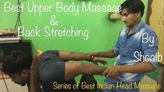 $1 Best Indian Head Massage & Upper Body Massage|Deep Tissue Massage|ASMR|60Fps