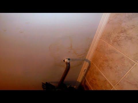 Желтые пятна на потолке и стенах  Удаление и покраска