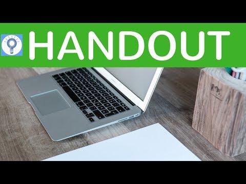 Wie schreibe ich ein gutes Handout? Tipps zur Gestaltung & Verfassen eines Handouts / Merkblattes