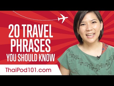 Learn the Top 20 Travel Phrases You Should Know in Thai