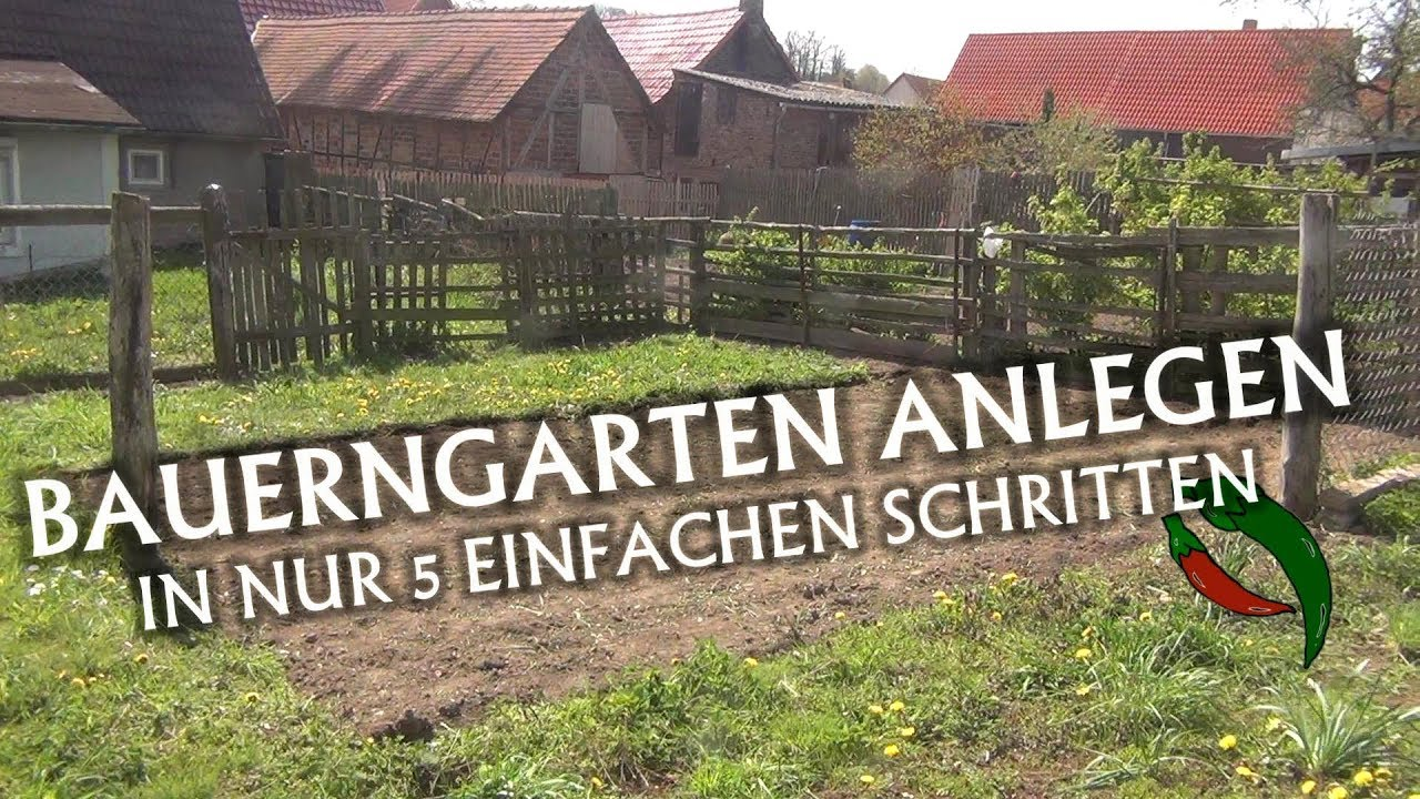 bauerngarten anlegen in nur 5 einfachen schritten youtube. Black Bedroom Furniture Sets. Home Design Ideas