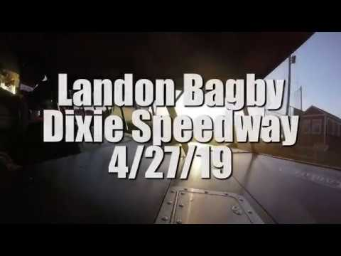 Landon Bagby In Car Steelhead/525 Dixie Speedway 4/27/19!