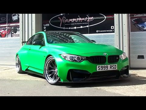 Most Customized BMW M4 Wrapped Satin Green
