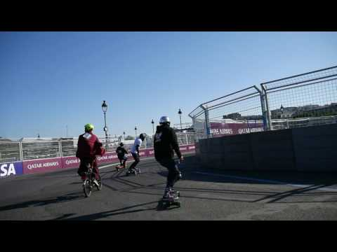 I rided on the Qatar Airways E-Formula Paris Raceway