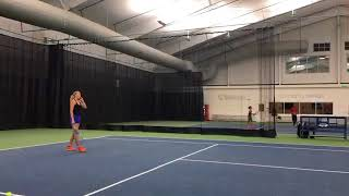 Amanda Anisimova Tennis training 05/01/18