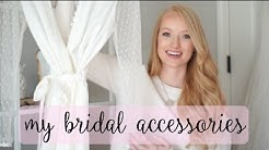 My Bridal Accessories: shoes, affordable veil, reception dress, jewelry, etc! | Amanda John