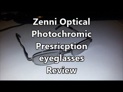 Zenni Optical Photochromic Prescription Eyeglasses Review Youtube