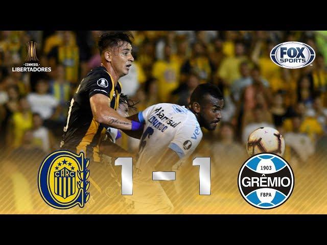 TUDO IGUAL! Veja os gols do empate entre Rosário e Gremio, pela Libertadores