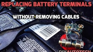 Changing Battery Terminals WITHOUT Removing Cables - HD - DIYautotech