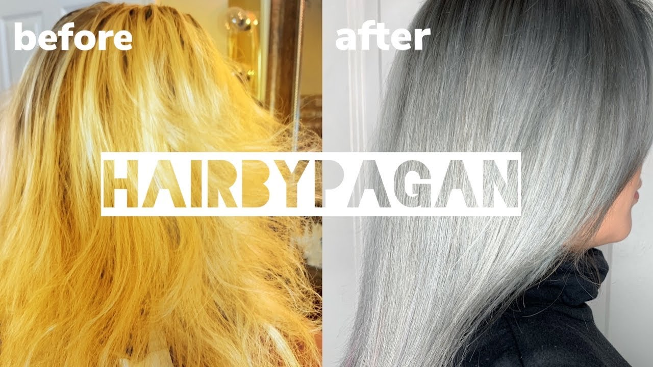 Silver Grey OverTone Blonde Hair at home Using OVERTONE SILVER!!