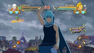 Naruto Ultimate Ninja Storm 3 Full Burst Mangetsu Suigetsu Character Swap Gameplay (PC w SweetFX)
