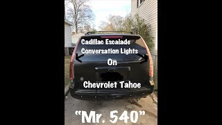 Escalade Conversion Tail Lights On Chevrolet Tahoe