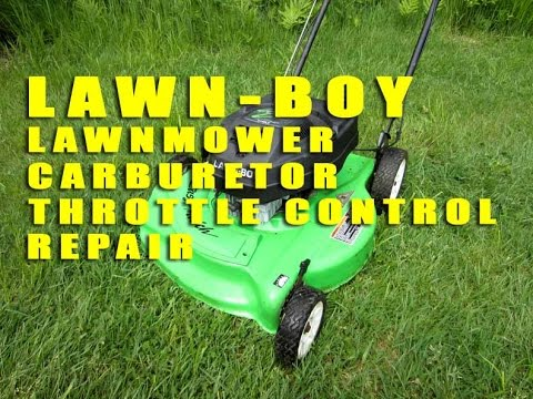 Lawn Boy Lawnmower Carburetor Throttle Control Repair