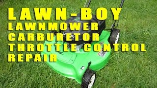 Lawn-Boy Lawnmower Carburetor Throttle Control Repair