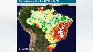 BR terá redução da chuva no Sudeste e parte do Centro-Oeste