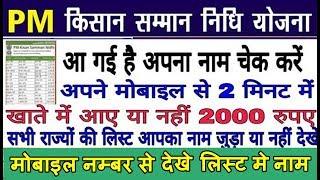 प्रधानमंत्री किसान सम्मान योजना की List जारी हुई अपना नाम कैसे देखे pm kisan yojana list