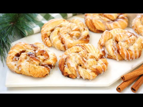 Puff Pastry Cinnamon Rolls   PERFECT for Christmas Breakfast + Brunch