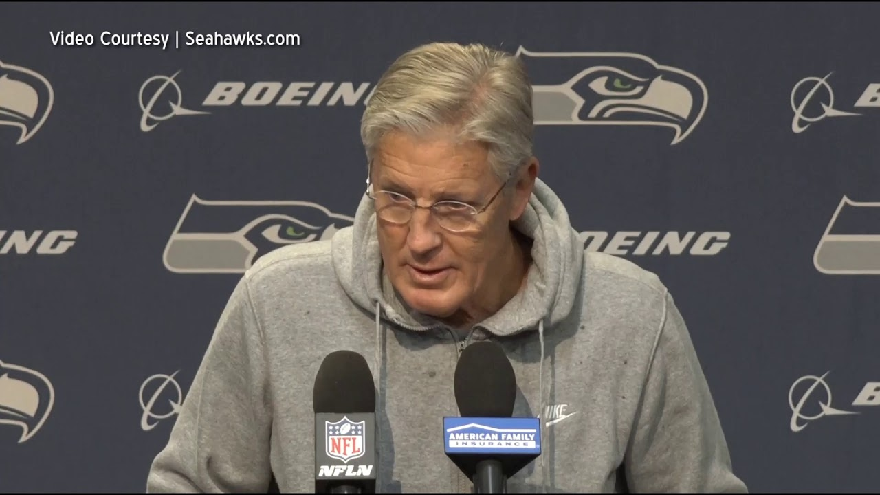Pete Carroll on Carolina Panthers 2019-12-11