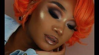 Orange Bob + Neutral Matte Makeup Look | Virgo Hair Company | MakeupTiffanyJ