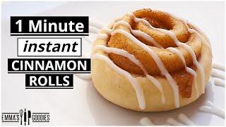 1 Minute *INSTANT* Fluffy CINNAMON ROLLS !