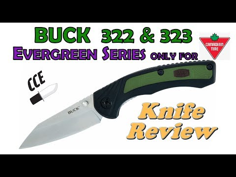 BUCK Folders: Buck 322 & 323 Review.  These Are Canada ONLY Knives By BUCK