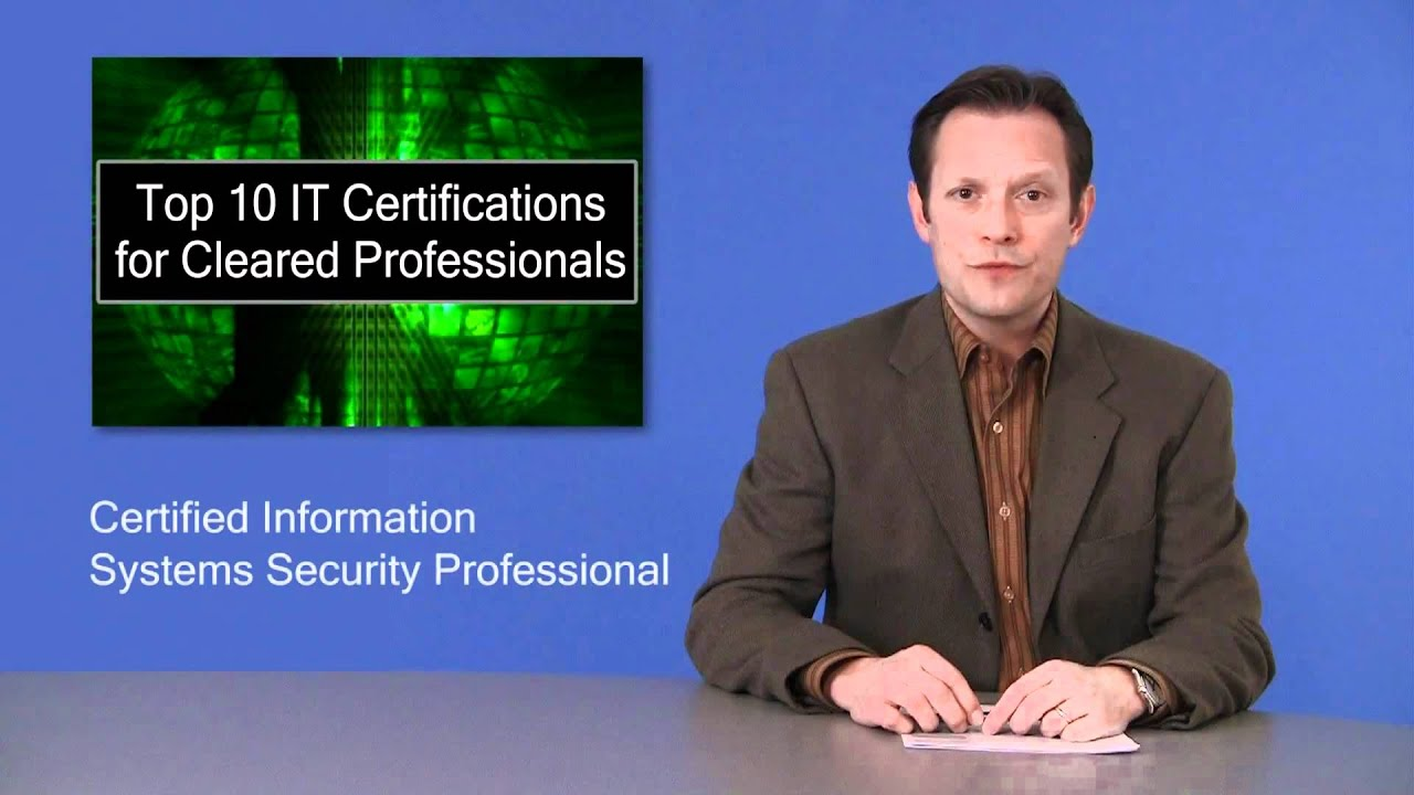 Top 10 It Certifications For Security Cleared Professionals Youtube
