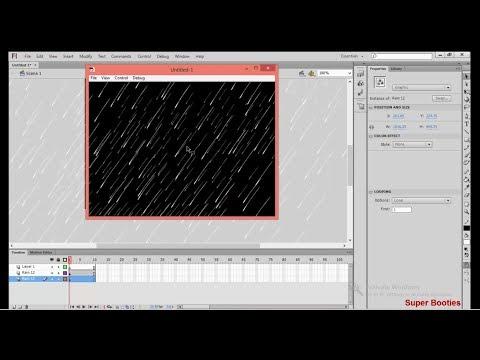 Adobe Flash In Marathi|| Lesson 1|| RainFall Animation||