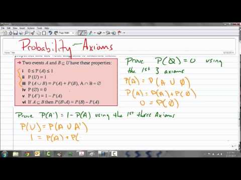 Probability Properties and Proof