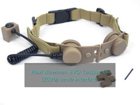 AirShop-gun Airsoft: Throat Micro pour Casque Bowman EVO III Tan