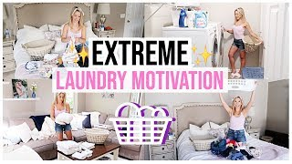 EXTREME LAUNDRY MOTIVATION 🧺🧼✨ULTIMATE ALL DAY LAUNDRY CLEAN WITH ME 2019 | Brianna K