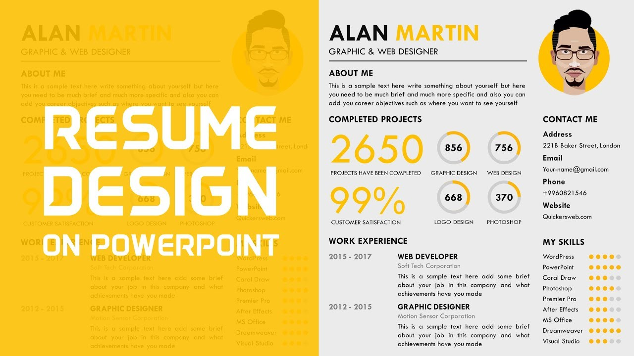 how to make a professional cv in powerpoint