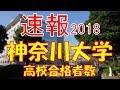 【速報】神奈川大学 2018年(平成30年) 合格者数高校別ランキング