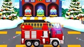 Fire Trucks for Children | Christmas Santa Hero Fireman | Cartoons for Kids : Fire Rescue for Baby