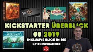 Kickstarter Überblick 08/2019 (inkl. Vorschau auf 2020: Teburu) & Blick in die Spieleschmiede
