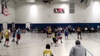Mike nice assist to Michael...championship game...youth basketball