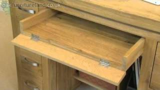 Tokyo Solid Oak Computer Desk From Oak Furniture Land