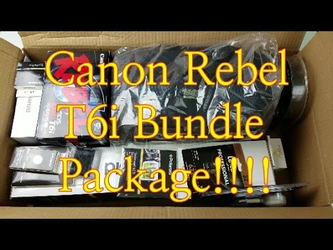 Canon Rebel T6i (750D) Bundle Package Unboxing: My First DSLR!!!