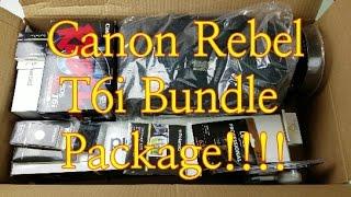 Video Canon Rebel T6i (750D) Bundle Package Unboxing: My First DSLR!!! download MP3, 3GP, MP4, WEBM, AVI, FLV November 2018