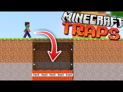 Thumbnail: EASY Hidden & Invisible Minecraft TRAPS!